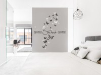 Wandtattoo Home Sweet Home mit Schmetterlingen