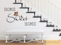 Wandtattoo Home Sweet Home an der Treppe