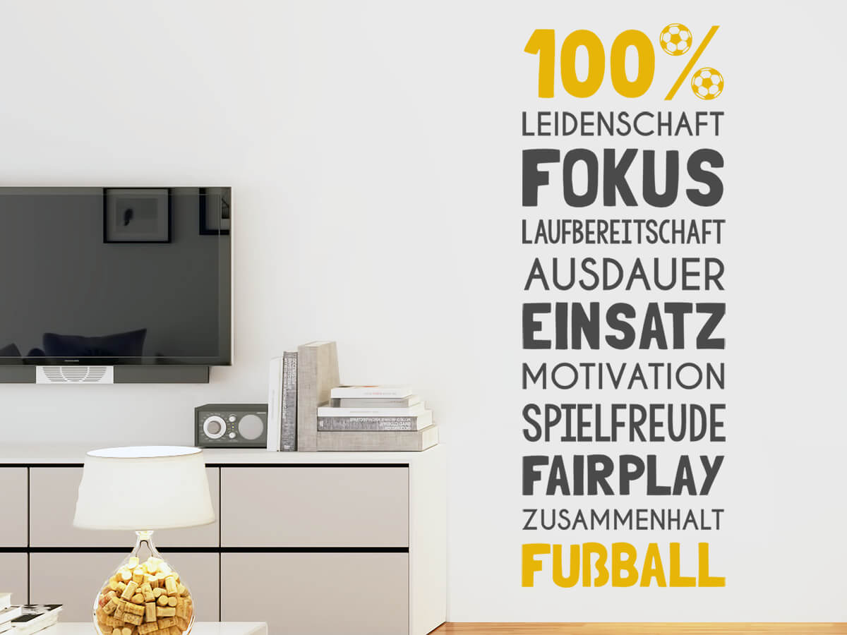 Wandtattoo Fussball Grosse Motivauswahl Wandtattoos De