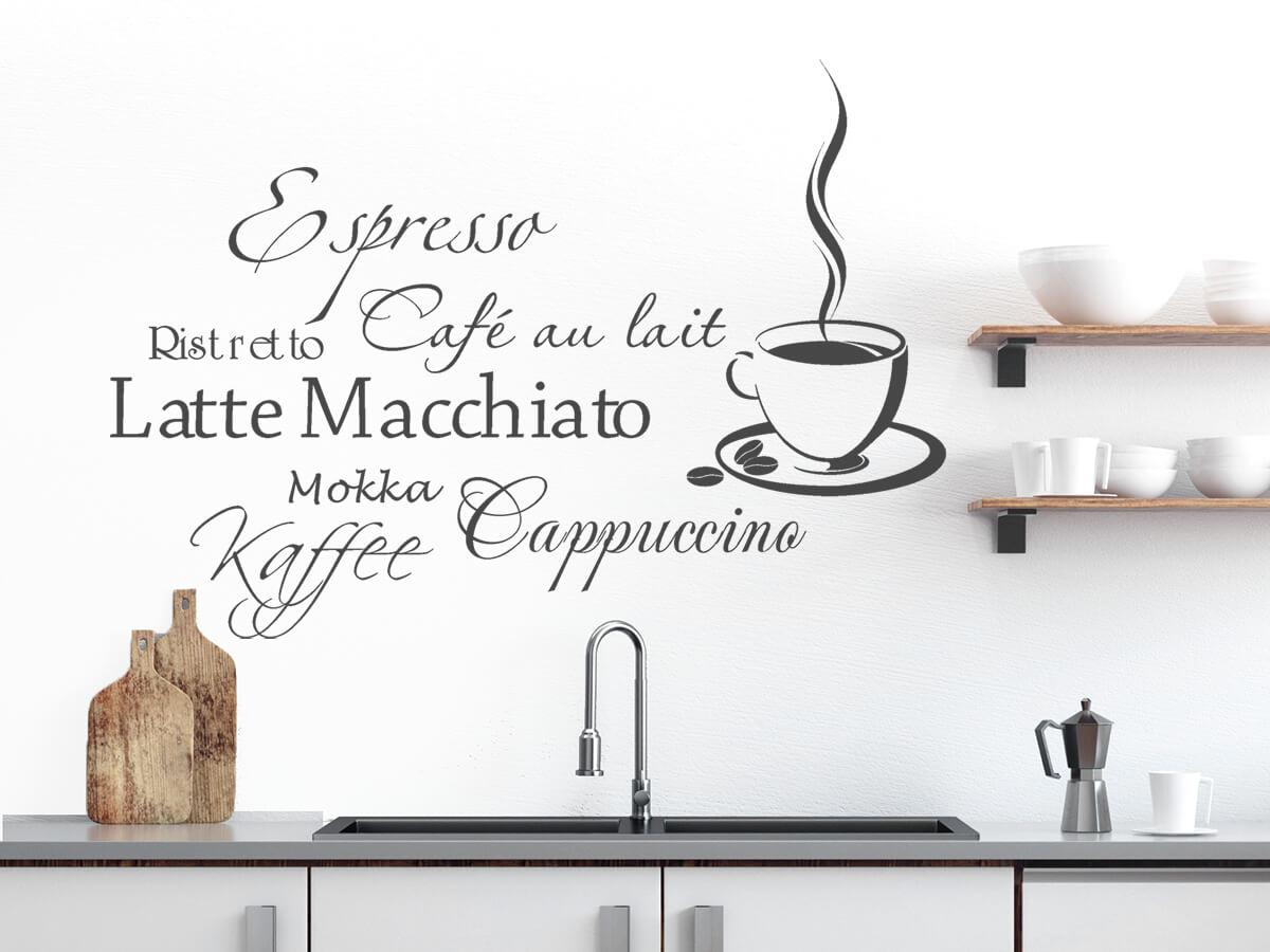 Wandtattoo Kaffee   große Motivauswahl   Wandtattoos.de