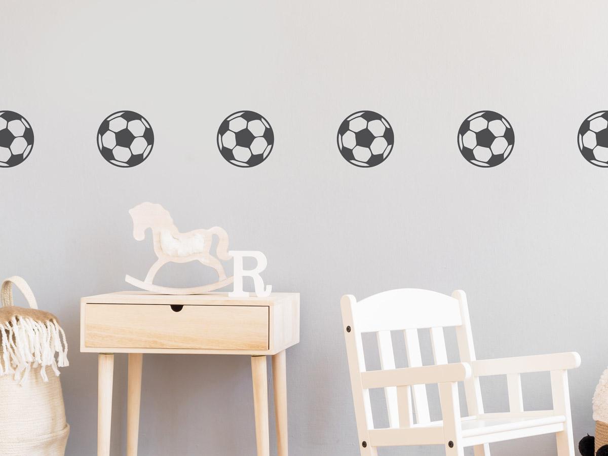Wandtattoo Bordüre Fußball   Wandtattoos.de