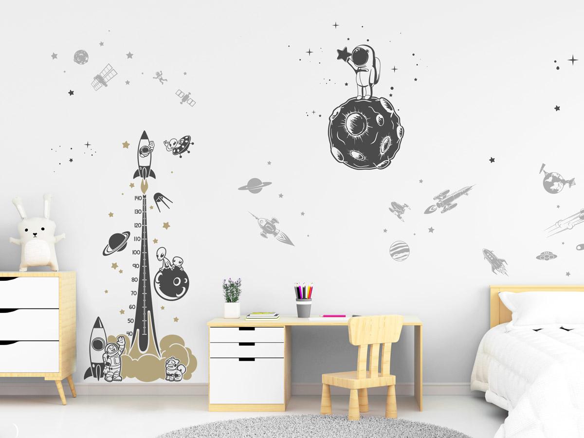 Wandtattoo Weltraum Set mit Planeten, Sternen... | Wandtattoos.de
