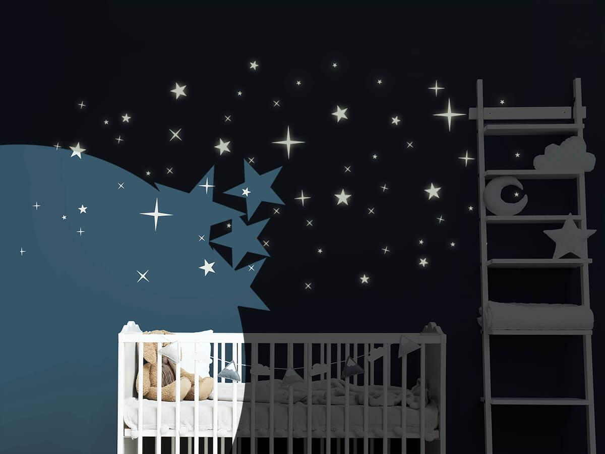 Leuchtsterne | Sternenhimmel für die Wand | Wandtattoos.de
