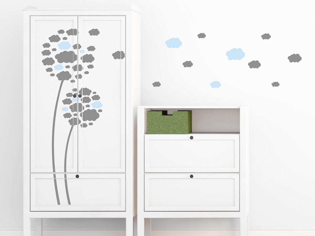 Wandtattoo Wolkenblumen fürs Kinderzimmer   Wandtattoos.de