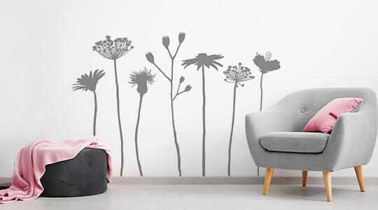 Wandtattoo Baume Pusteblumen Graser Pflanzen Wandtattoos De