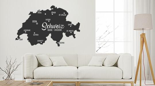 wandtattoo schweiz bestellung versand. Black Bedroom Furniture Sets. Home Design Ideas