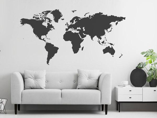wandtattoo weltkarte gro e auswahl. Black Bedroom Furniture Sets. Home Design Ideas
