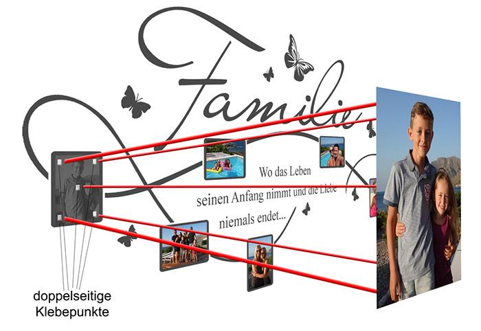 Wandtattoo Fotorahmen Anleitung