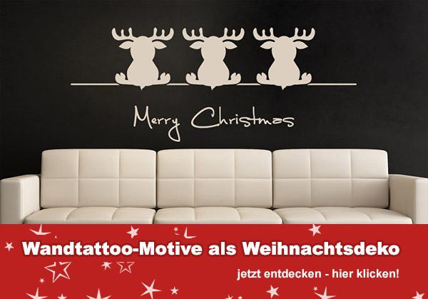 Weihnachtsmotive als Wandtattoos