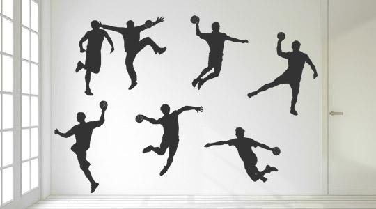 63 wandtattoo menschen sport handball