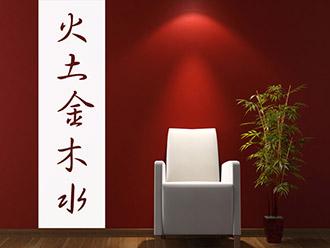 wandbanner chinesische zeichen wandtattoo banner. Black Bedroom Furniture Sets. Home Design Ideas