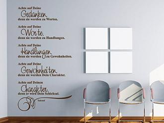 wandtattoo lebensweisheiten zitate leben. Black Bedroom Furniture Sets. Home Design Ideas