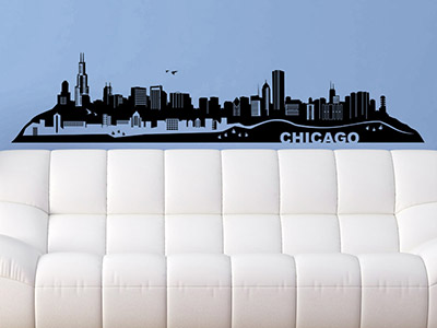 Wandtattoo Chicago Skyline