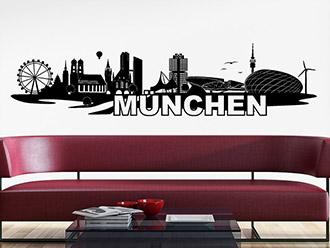 wandtattoo skylines st dte silhouetten. Black Bedroom Furniture Sets. Home Design Ideas