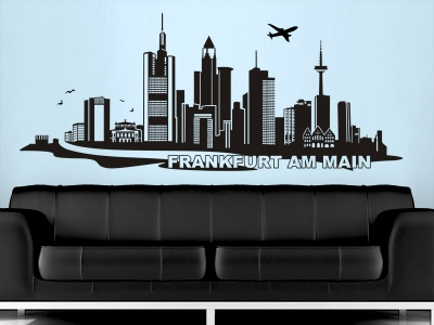 Wandtattoo Skyline Frankfurt am Main