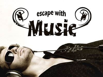 Wandtattoo Escape with music