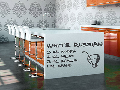 Wandtattoo White Russian