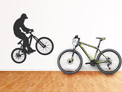 Wandtattoo Mountainbike Freerider