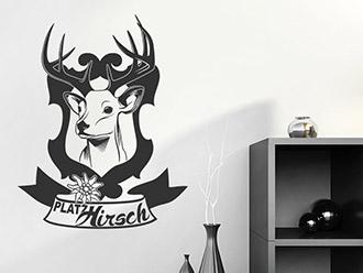 wandtattoo hirschgeweihe. Black Bedroom Furniture Sets. Home Design Ideas