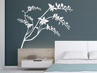 baum wandtattoo pflanzen wandsticker blumen bambus und pusteblume. Black Bedroom Furniture Sets. Home Design Ideas