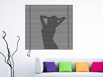 wandtattoo fenstermotive originelle fenster. Black Bedroom Furniture Sets. Home Design Ideas