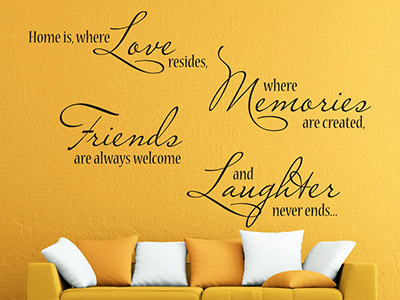 Wandtattoo Home is where Love resides...