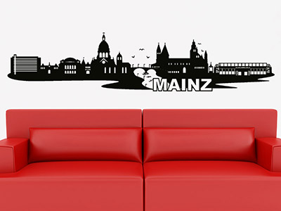 Wandtattoo Skyline Mainz