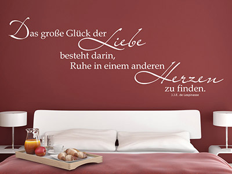 wandtattoo liebe zitate romantische texte. Black Bedroom Furniture Sets. Home Design Ideas