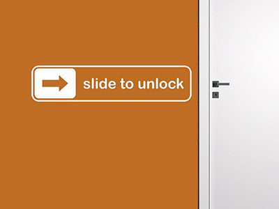 Wandtattoo Slide to unlock