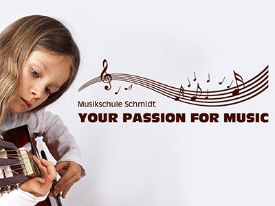 Wandtattoo Passion for music Musikschule