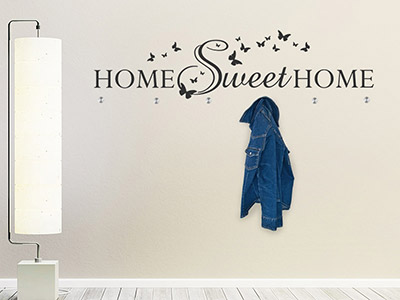 Wandtattoo Garderobe Sweet Home