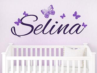 wandtattoo babyzimmer s e baby motive mit namen. Black Bedroom Furniture Sets. Home Design Ideas