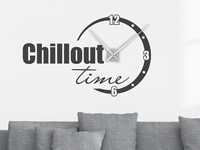Wandtattoo Uhr Chillout