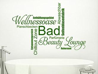 Wandtattoo bad begriffe wellness f rs badezimmer - Wandtattoo fur bad ...