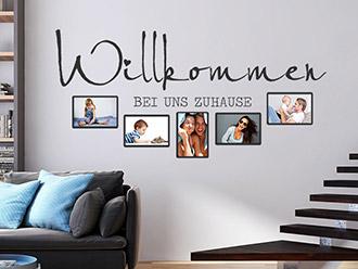 Wandtattoo fotorahmen kreative bilderrahmen - Wandtattoo flur treppenhaus ...