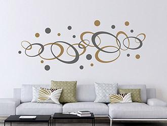 wandtattoo ornamente modern oder verschn rkelt. Black Bedroom Furniture Sets. Home Design Ideas