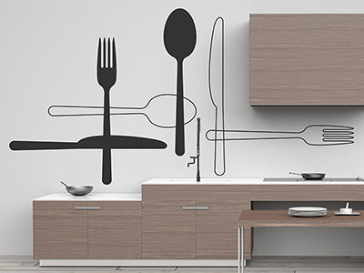 ausgefallene wandtattoos originelle ideen motive. Black Bedroom Furniture Sets. Home Design Ideas
