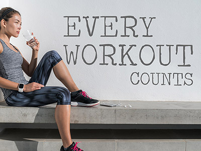 Wandtattoo Every workout counts