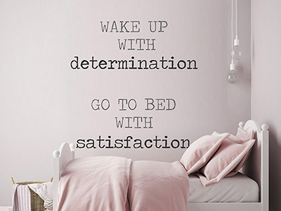 Wandtattoo Wake up with determination