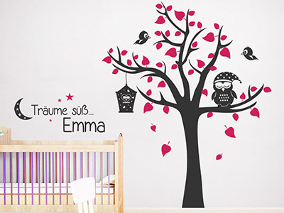 wandtattoo babyzimmer s e baby motive mit namen. Black Bedroom Furniture Sets. Home Design Ideas