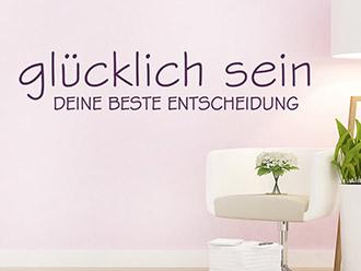 wandtattoo gl ck spr che. Black Bedroom Furniture Sets. Home Design Ideas