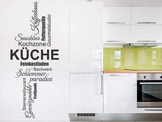 Wandtattoo Küchen Worte