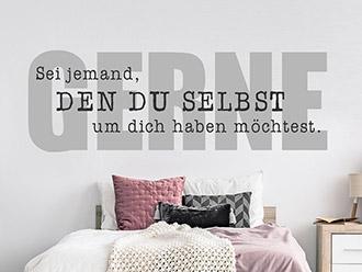 inspirationen als wandtattoo spr che inspirierend. Black Bedroom Furniture Sets. Home Design Ideas