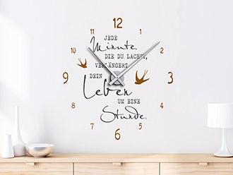 Wandtattoo Uhren | Designer Wanduhren | Wandtattoos.de