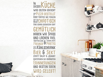 Wandtattoo Essen & Trinken - Sprüche für die Küche - Wandtattoos.de