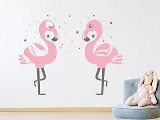 Wandtattoo tiermotive f r kinderzimmer pferde ponys - Flamingo wandtattoo ...