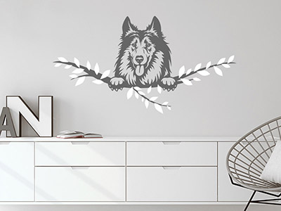 Wandtattoo Collie
