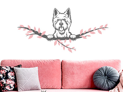 Wandtattoo West Highland Terrier