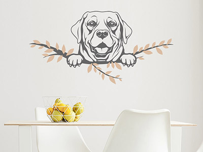Wandtattoo Labrador Retriever