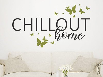 Wandtattoo Chillout Home